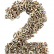 Royalty-Free Stock Photo: Numbers made of bolts - two