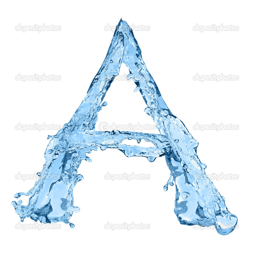 alphabet made of frozen water the letter a � stock photo