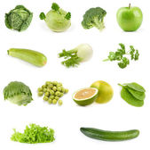 Food collection. All green. — Stock Photo