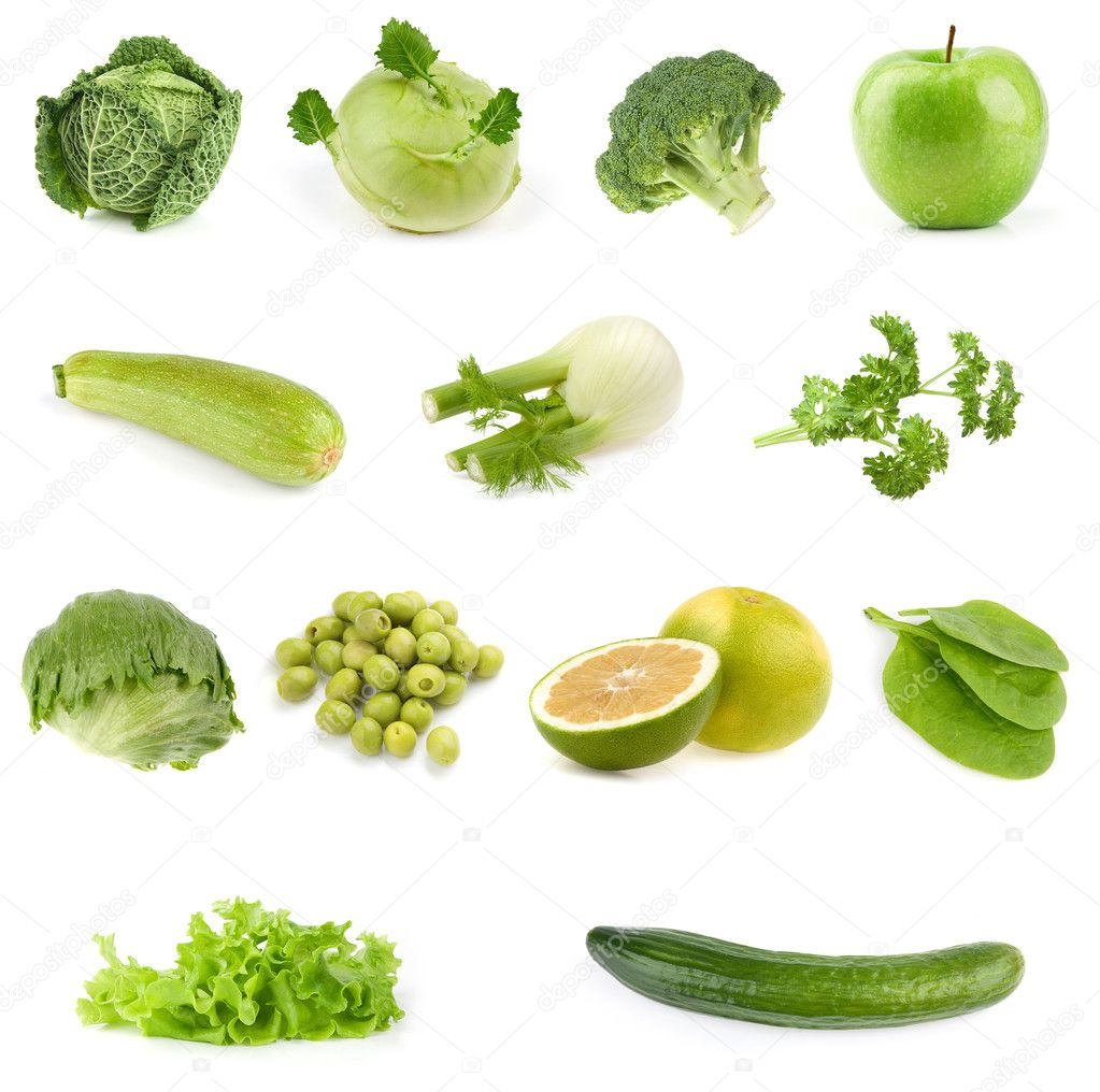Food collection all green stock photo spaxiax 3275995 for Cuisine on the green