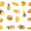 All yellow. Food collection. — Stock Photo