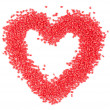 Red plastic heart — Stock Photo