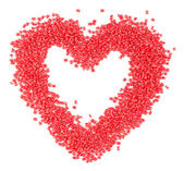 Red plastic heart — Stock Photo