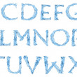 Royalty-Free Stock Photo: Alphabet made of frozen water