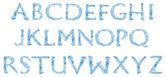 Alphabet made of frozen water — Stock Photo