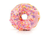 Strawberry flavoured donut — Stock Photo