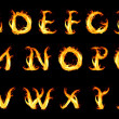 Fiery alphabet - Stock Photo