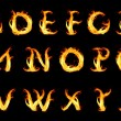 Fiery alphabet — Stock Photo
