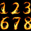Fiery number zero — Stock Photo