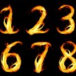 Stock Photo: Fiery number zero