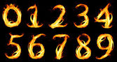 Fiery number zero — Stock Photo
