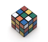 Multi coloured cube a puzzle — Stock Photo