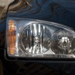 Stock Photo: Headlight of car