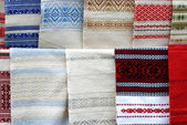 Ukrainian towels — Stockfoto