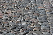 Cobblestone road background — Stock Photo