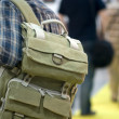 Man with a backpack — Stockfoto