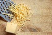 тертый сыр — Стоковое фото