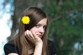 Smutný dospívající dívka — Stock fotografie