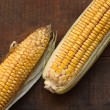 Corn On Wood — Stock Photo