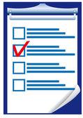 Checklist — Stockvector