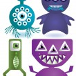 Stock Vector: Cute aliens