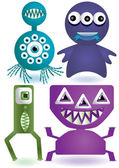 Cute aliens — Stock Vector