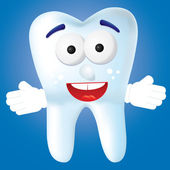 зуб мультфильм 2 — Cтоковый вектор