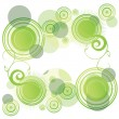 Stock Vector: Abstract green rounds