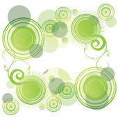 Abstract green rounds — Stock Vector