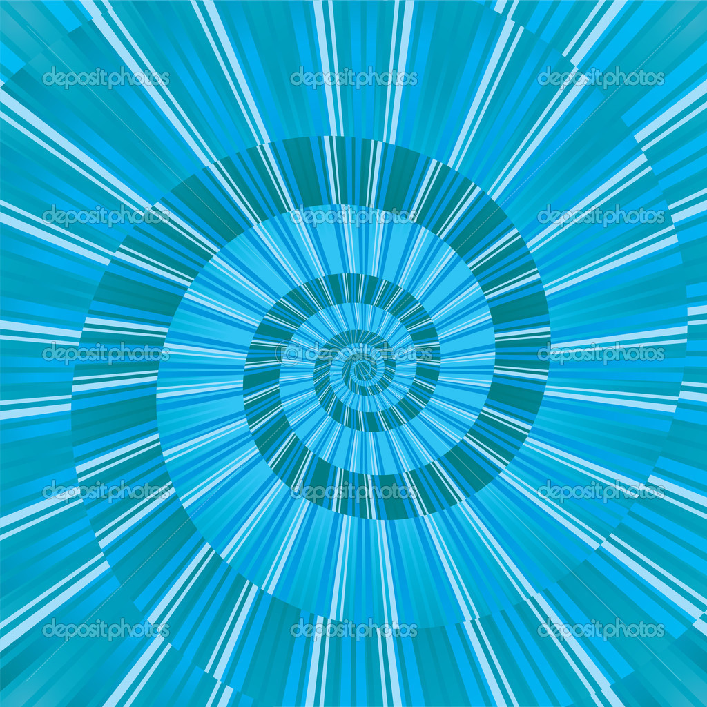 Blue abstract background with abstract spiral, vector illustration — Stock Vector #3368035