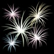 Stock Vector: Fireworks, part 2