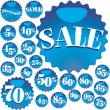 Blue Sale — Stock Vector