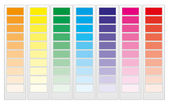 Color guide chart, part 1 — Stock Vector