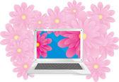 Laptop contrast — Stock Vector
