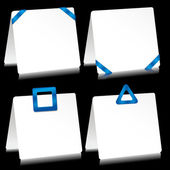 Note pads with blue tape — Stock Vector