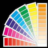 Color guide chart, part 4 — Stock Vector