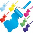 Set of paint roller brushes, part 2 — Stock Vector #3735498