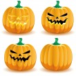 Royalty-Free Stock Vector Image: Halloween pumpkin 3