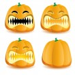 Halloween pumpkin 5 — Stock Vector