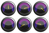 Purple speedometers — Stock Photo