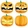 Halloween pumpkin 4 - Stock Vector