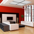 Modern interior of a room -  