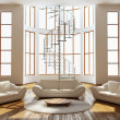 modern interior of a room drawing — Stockfoto