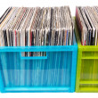 Old dj records — Stock Photo