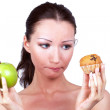 Woman on diet — Stock Photo