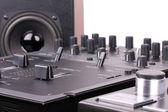 Dj mixer and turntable — Stock Photo
