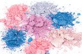 Sombras de ojos desmenuzado multicolor — Foto de Stock
