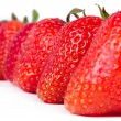 Aligned  strawberries — Stock Photo