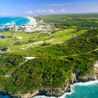 Caribbean nature from helicopter view — Stock Photo