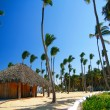 Stock Photo: Caribbesummerhouse on beach